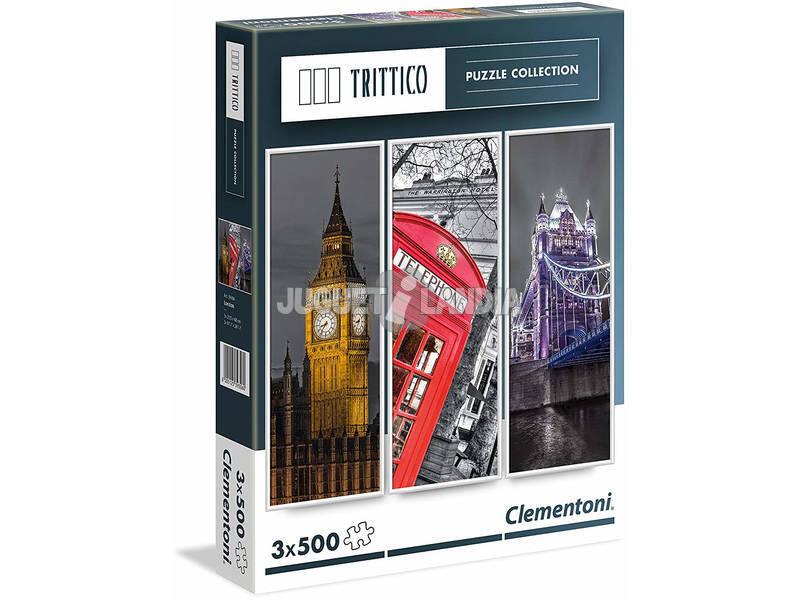 Puzzle 3x500 Londres Clementoni 39306