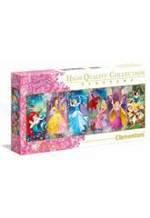 imagen Puzzle Panorama 1000 Princesas Disney Clementoni 39444