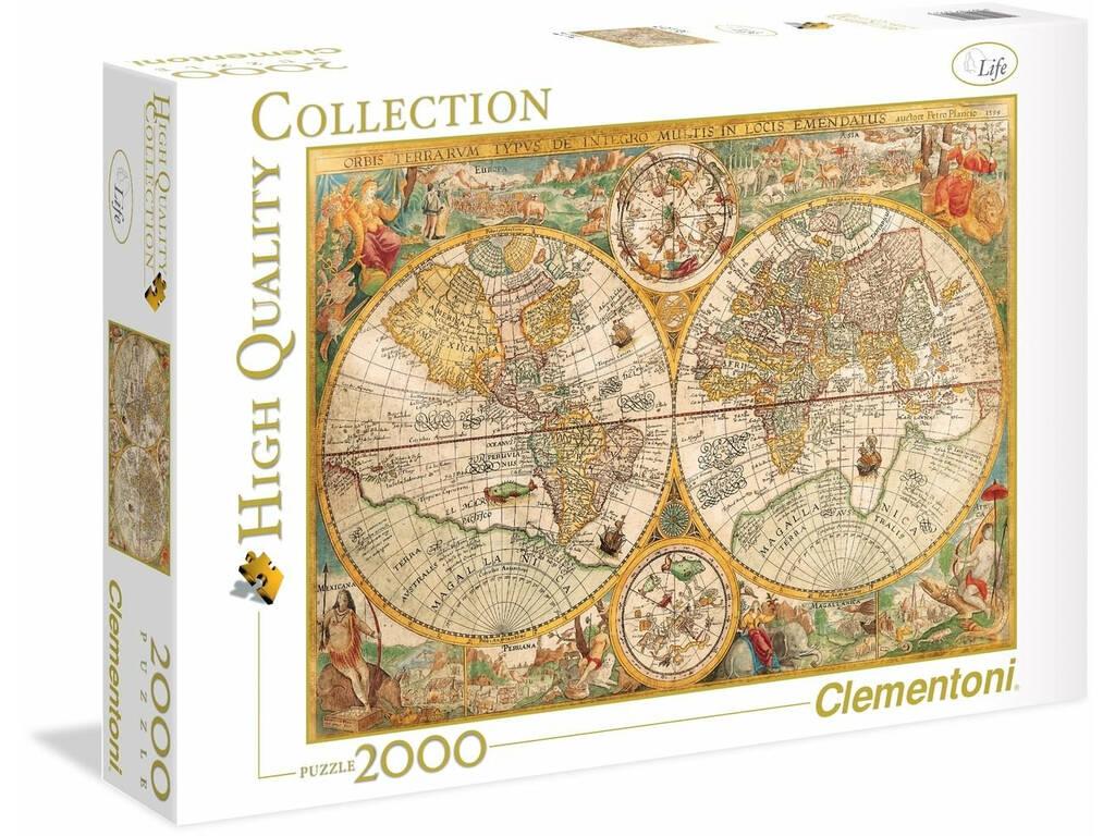 Puzzle 2000 Mapa Antigo Clementoni 32557