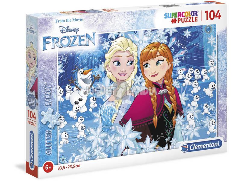 Disney Frozen - 104 pezzi - Glitter Puzzle Clementoni 20153