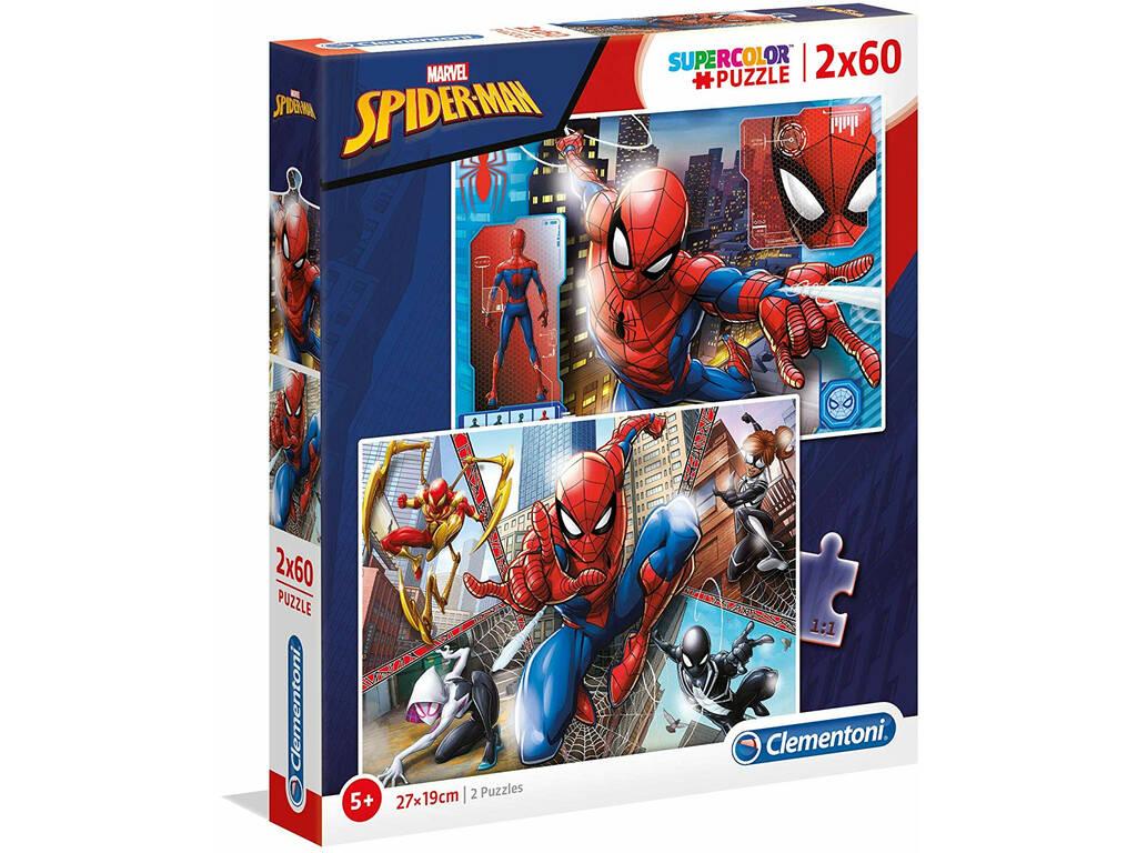 Puzzle 2x60 Spiderman Clementoni 21608