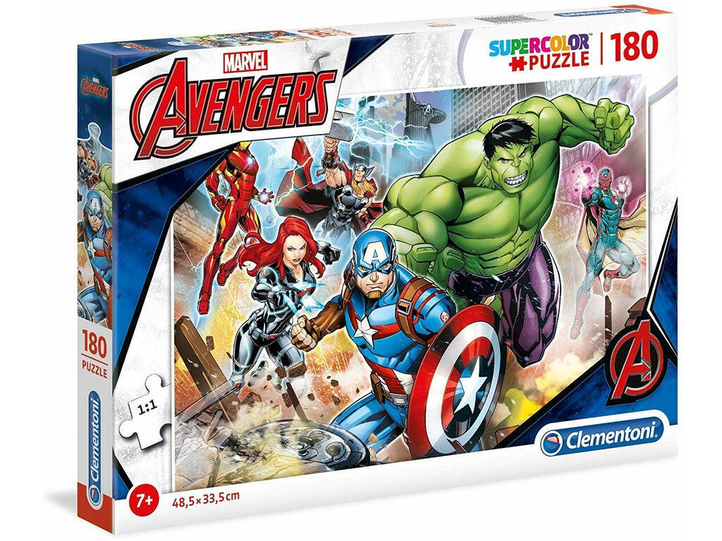 Marvel Avengers - 180 pezzi - Supercolor Puzzle Clementoni 29295