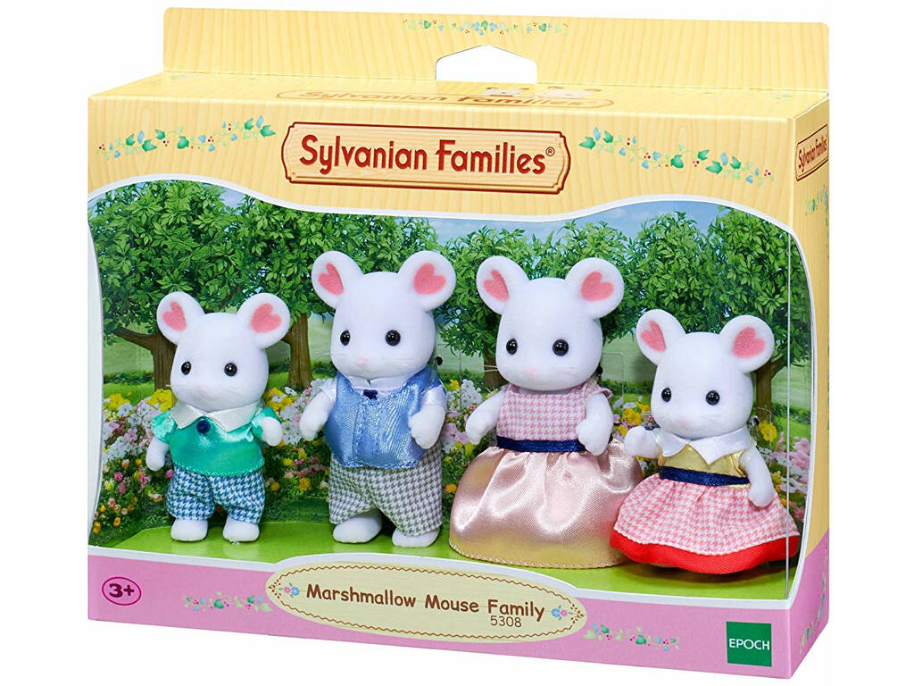 Sylvanian Families Familia Rato Marshmallow Epoch Para Imaginar 5308