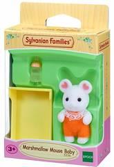 imagen Sylvanian Families Bebé Ratón Marshmallow Epoch Para Imaginar 5336