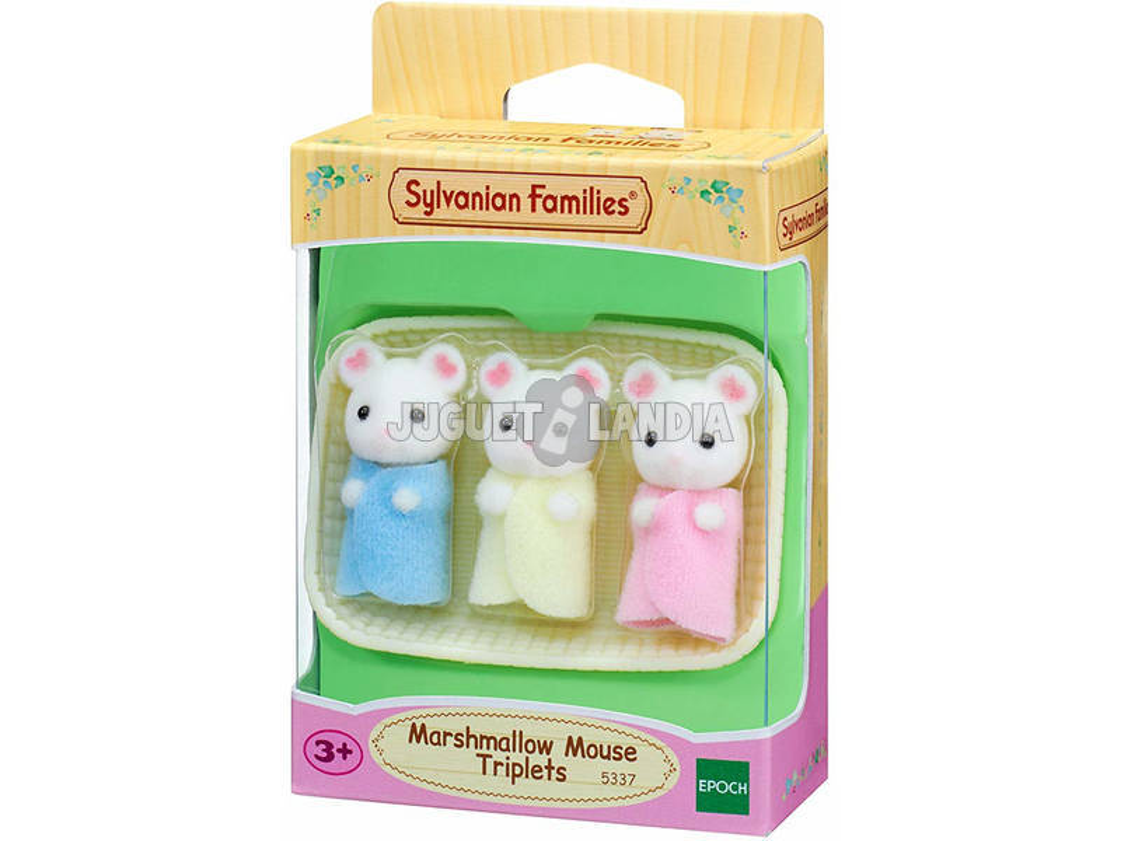 Sylvanian Families Trigémeos Ratos Marshmallow Epoch Para Imaginar 5337