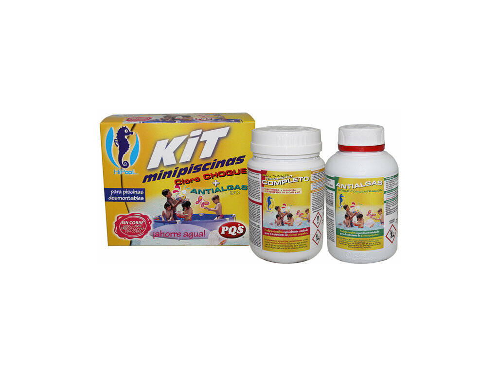 Kit Piscinas pequenas Cloro e Anti-algas PQS 1617028