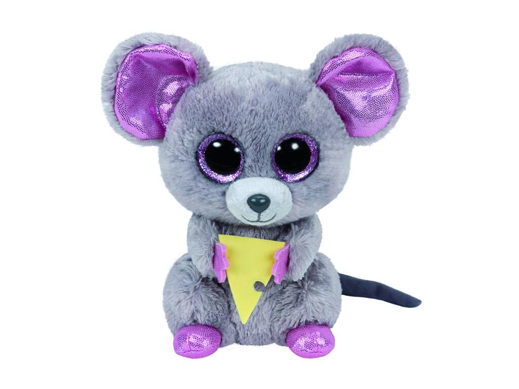 Peluche Rato com Queijo 15 cm. Squeaker TY 36192TY