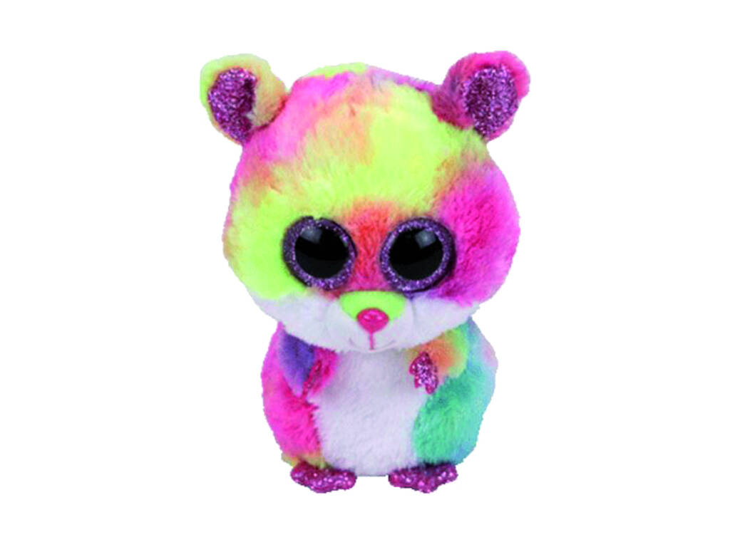 Peluche Raton Multicolor 15 cm. Rodney TY 36214TY
