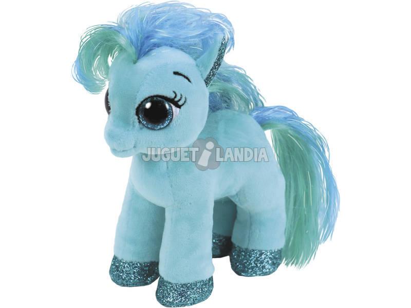 Peluche Teal Pony 15 cm. Topaz TY 36666TY