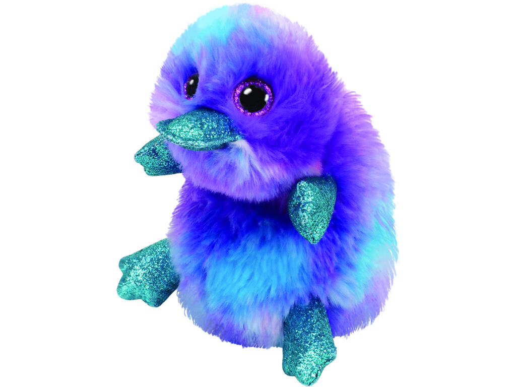 Peluche Ornithorynque Pourpre 18 cm. Zappy TY 36275TY