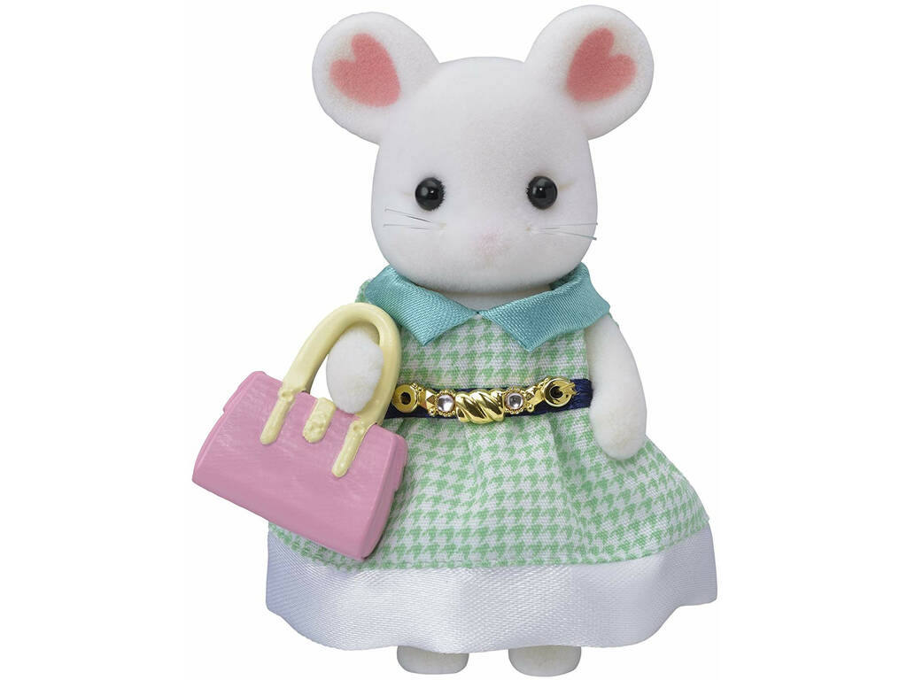 Sylvanian Families Town Kit Stephanie Souris Marshmallow Epoch Para Imaginar 5364