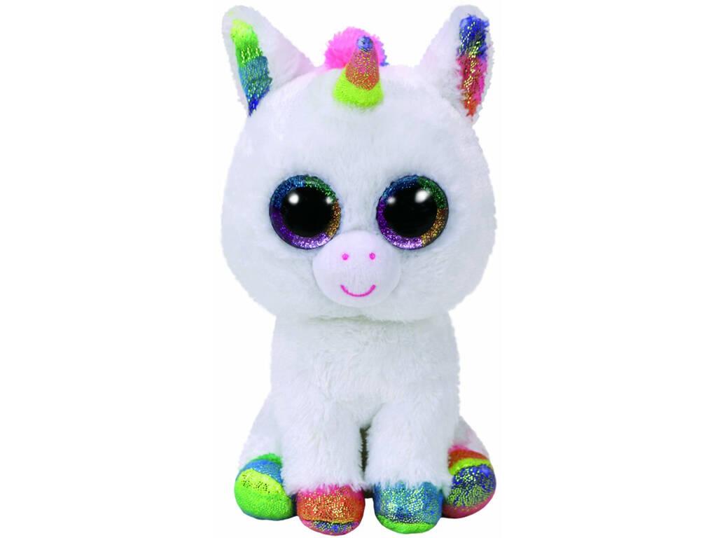 Peluche Unicornio Blanco 23 cm. Pixy TY 37157TY