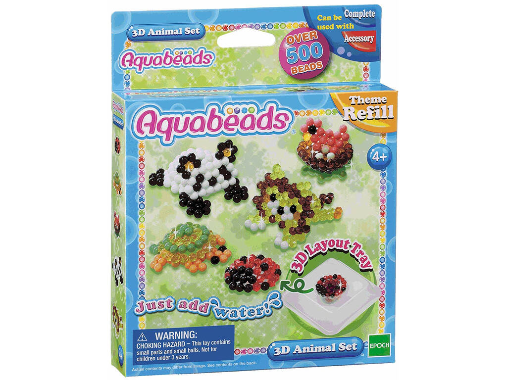 Aquabeads Set Animales 3D Epoch Para Imaginar 79218