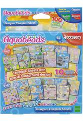 imagen Aquabeads Set Plantillas con Fondo Epoch Para Imaginar 30288