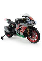 Moto Aprilia RSV 12v. avec des lumières et des Sons Injusa 64900