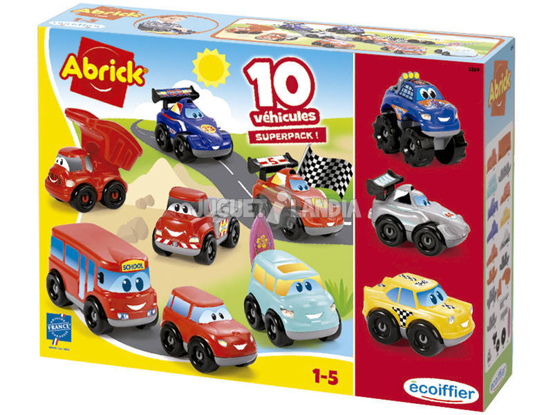 Set 7+3 Coches Abrick Superpack Simba 32690