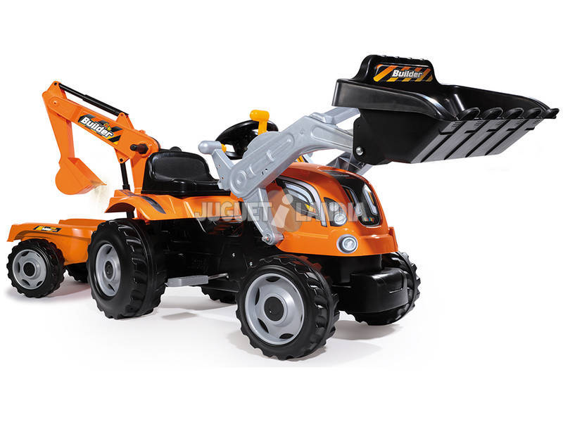 Trator Builder Max com Reboque Smoby 710110