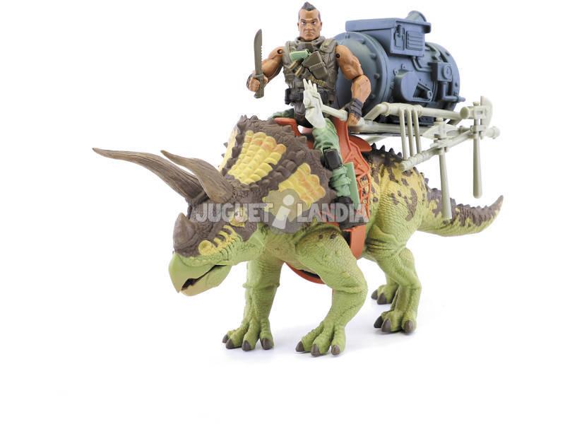 Jurassic Clash Dino Commander Figura con Accesorios