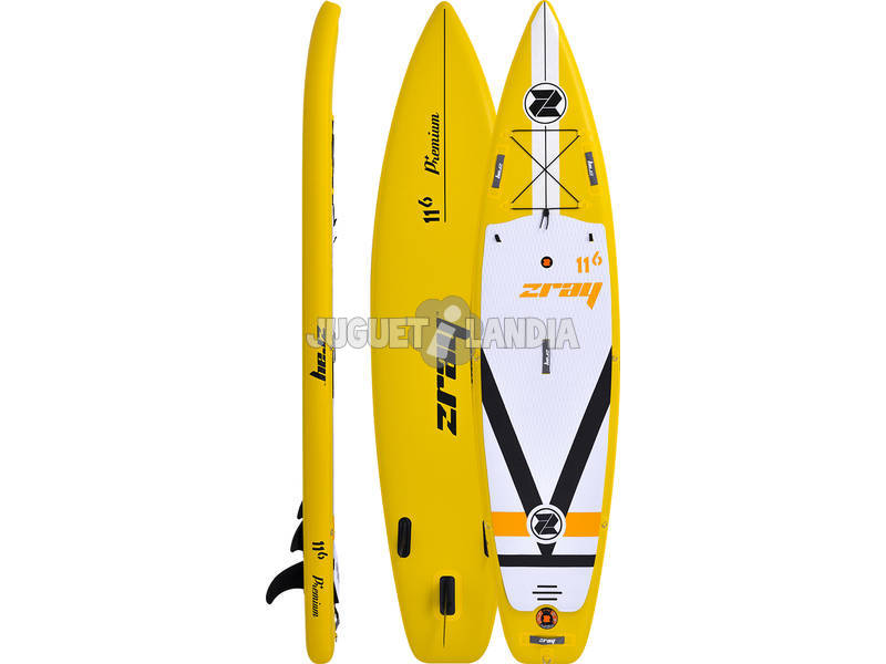 Tavola Stand Up Paddle Surf Zray Fury 350x81 cm. Poolstar PB-ZF4