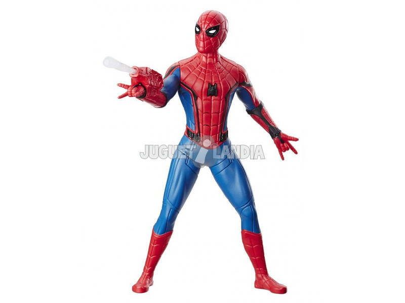 Spiderman Far From Home Figura Deluxe 33 cm. Traje Lanzaredes Hasbro E3567