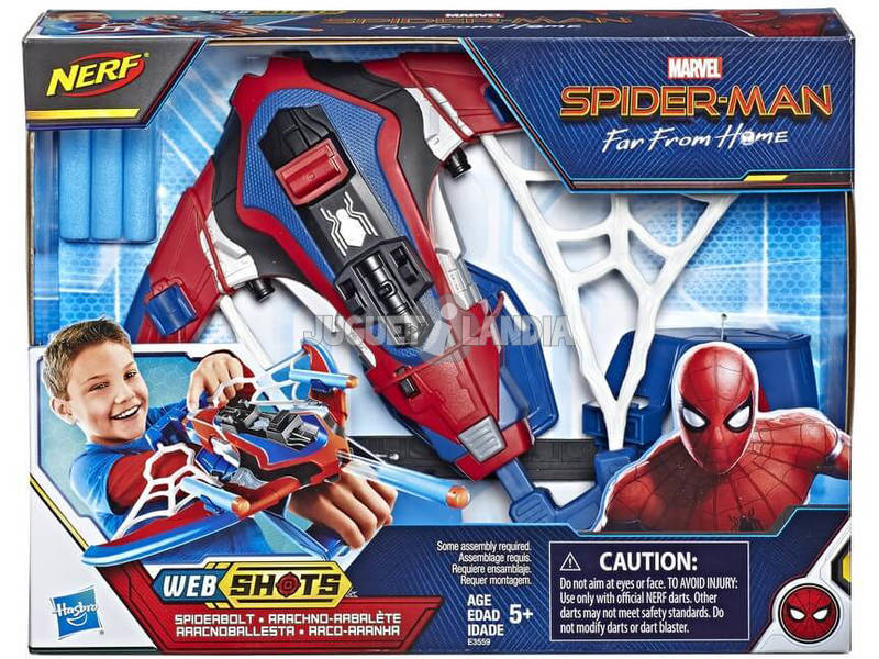 Spiderman Nerf Web Shots Ballesta Arácnida Hasbro E3559