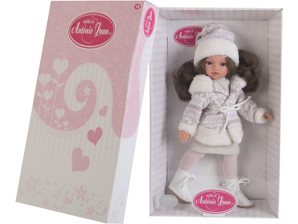 Boneca Emily Inverno Morena 33 cm. Antonio Juan 2592