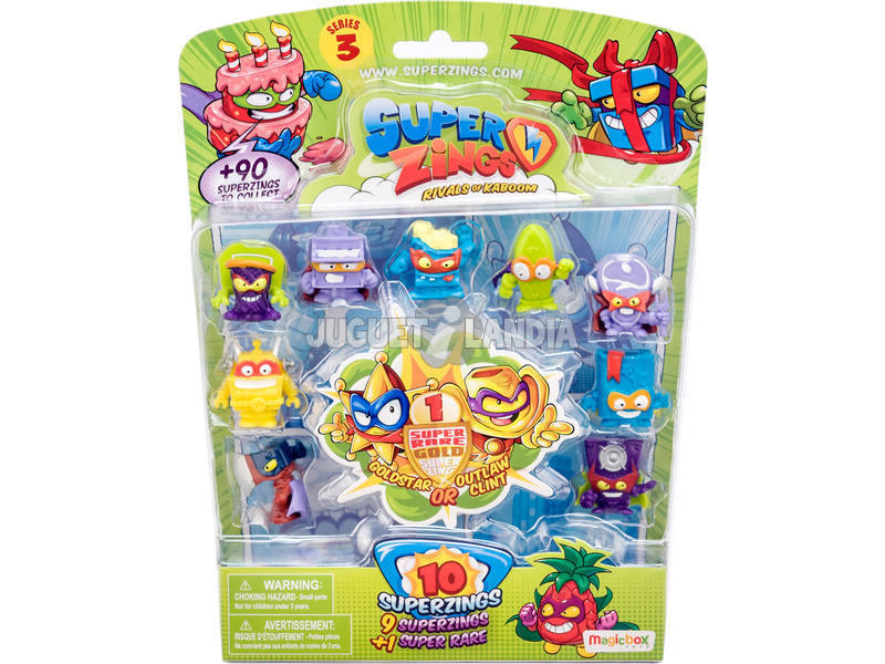 Superzings Blister 10 Figuras Series 3 Magic Box Toys PSZ3B016IN00