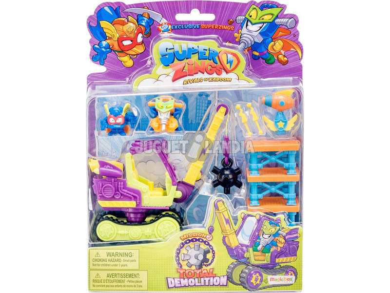 Superzings Total Demolition Mission 2 Magic Box Toys PSZB216IN20