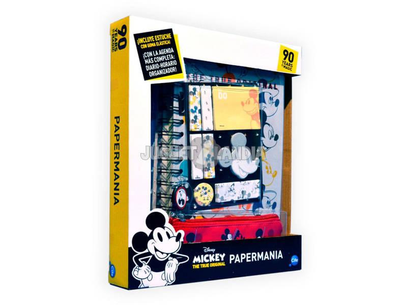 Agenda Mickey Mouse 90 Aniversario Papermania con Accesorios Cife 41349