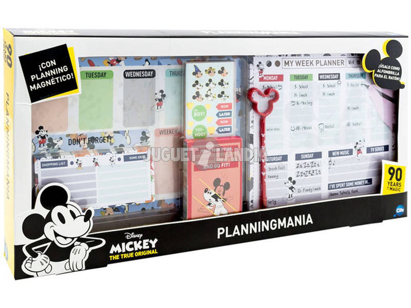 Planificateur Mickey Mouse 90 Anniversaire Cife 41340