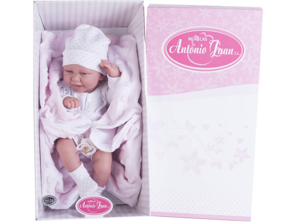 Boneca Recém Nascida Carla Cobertor 42 cm. Antonio Juan 5020