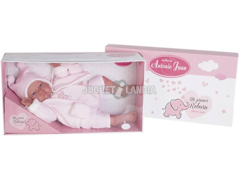 Bambola il Mio Primo Reborn Berta Berretto Pico Rosa Antonio Juan 8158