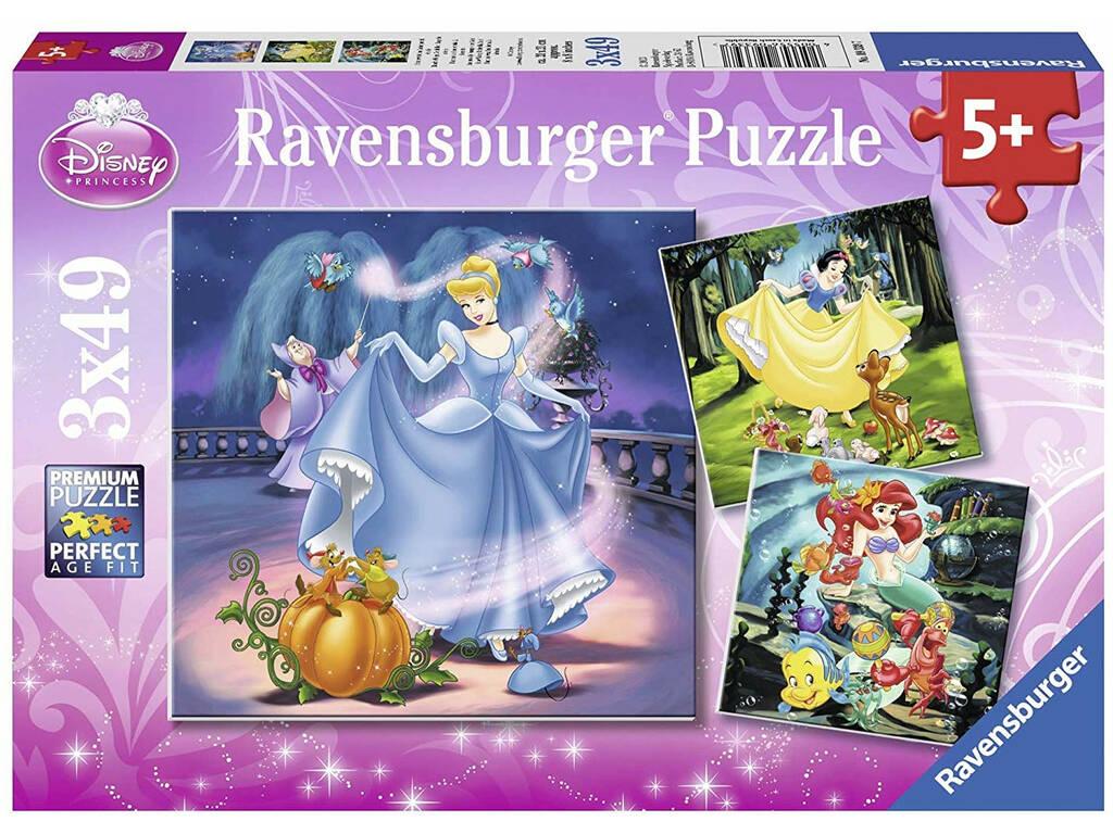 Puzzle Princesas Disney 3x49 Peças Ravensburger 9339