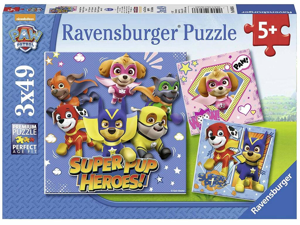 Puzzle Paw Patrol 3x49 Pezzi Ravensburger 8036