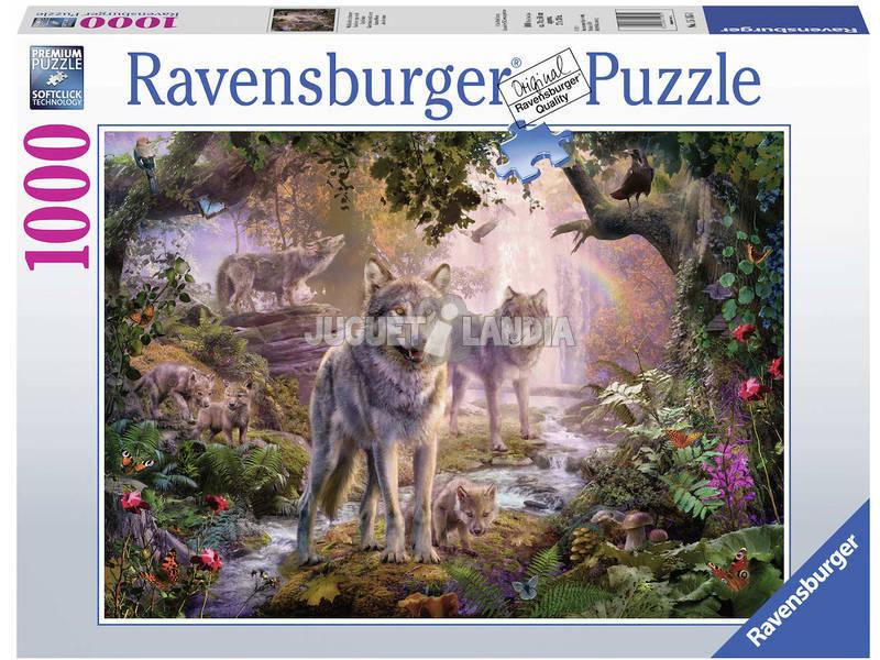 Puzzle Lobos de Verão 1.000 Peças Ravensburger 15185