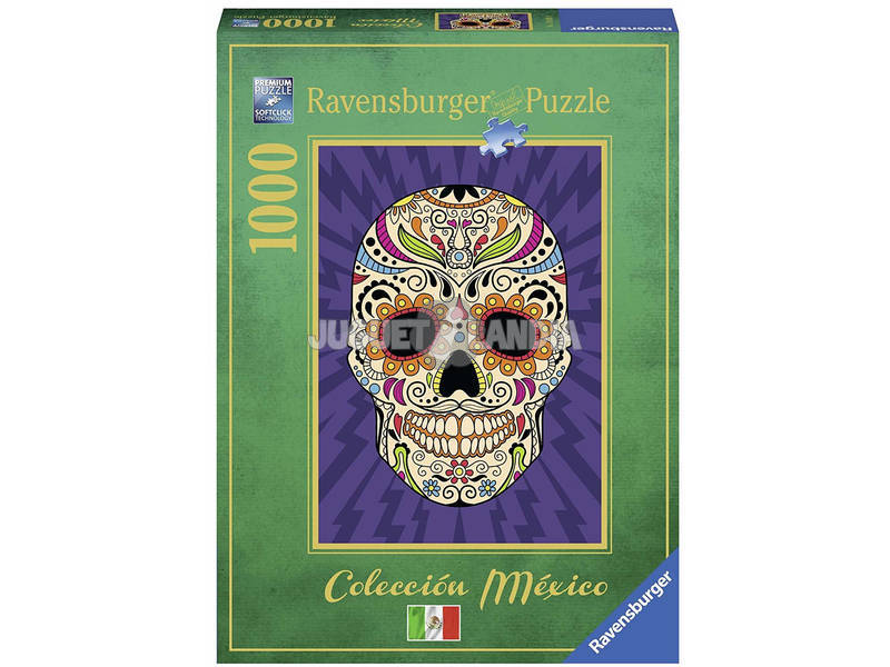 Puzzle Calavera Mexicana 1.000 Pezzi Ravensburger 19686