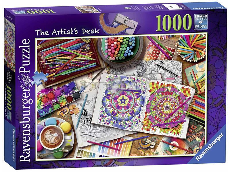 Puzzle El Escritorio Del Artista 1.000 Piezas Ravensburger 19718