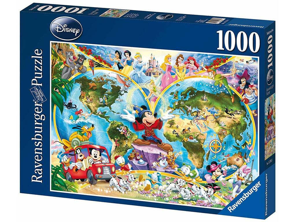 Puzzle Mapa-múndi Disney 1.000 Peças Ravensburger 15785