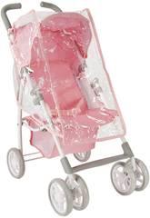 Puppenwagen mit Kapuze und Regen Plastik Elegance Arias 40724