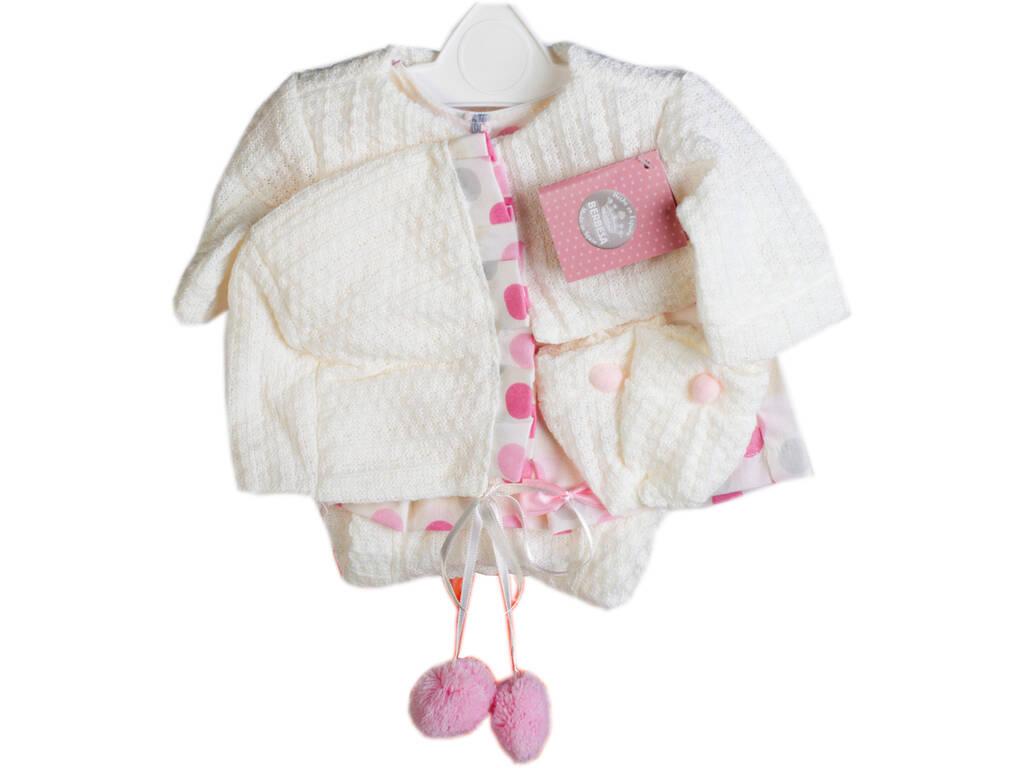 Vestido Muñeca Recién Nacida 42 cm. Chaqueta Crema Berbesa T5112