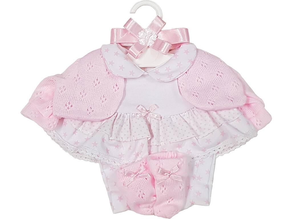 Vestido Muñeca Recién Nacida 42 cm. Rosa Berbesa T5113