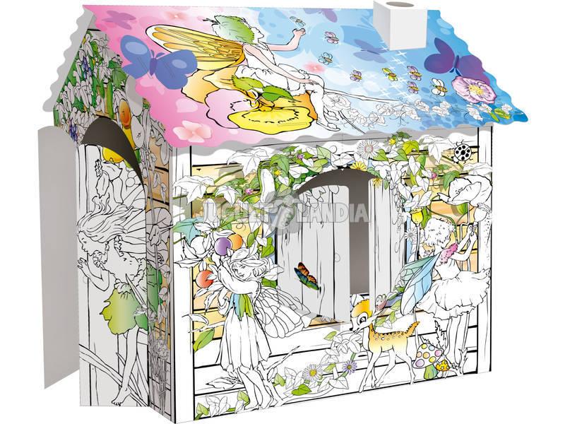 Casa de Hadas 3D para Colorear - Juguetilandia