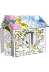 Casa de Hadas 3D para Colorear