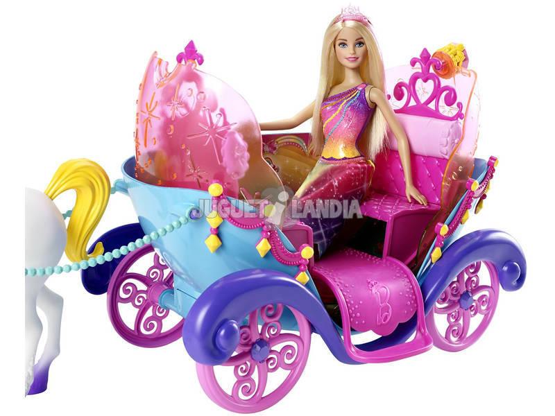 Acheter barbie carrosse et princesse arc en ciel magique - Carrosse barbie ...