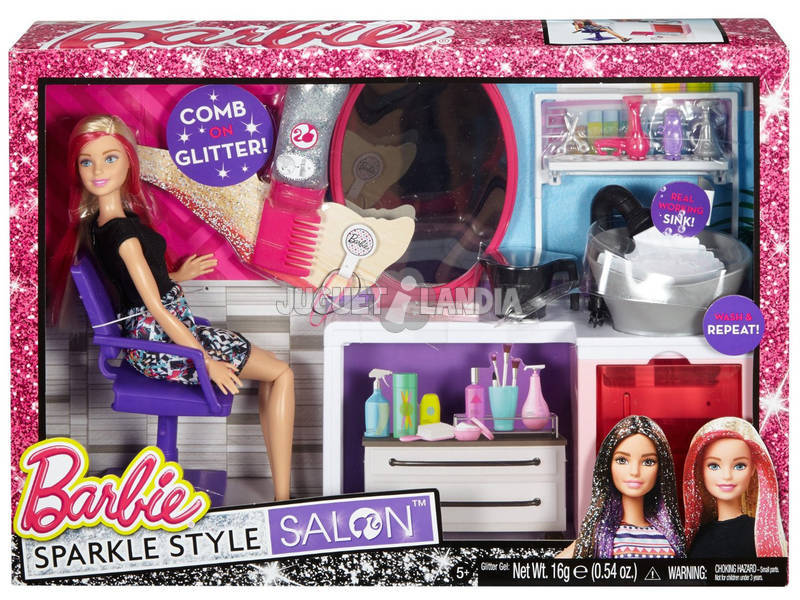 Barbie Peluquería Purpurina Mágica