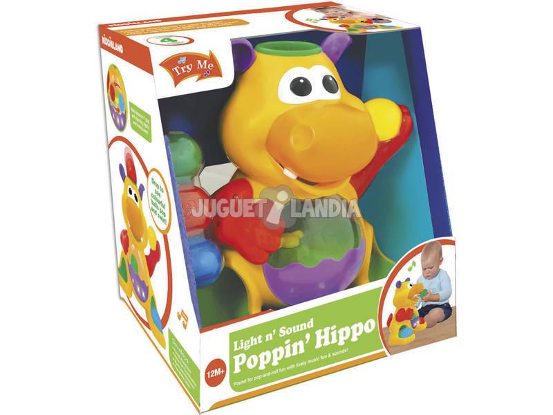 Hipopótamo Engole Bolas com Luz e Sons 28x26x20cm