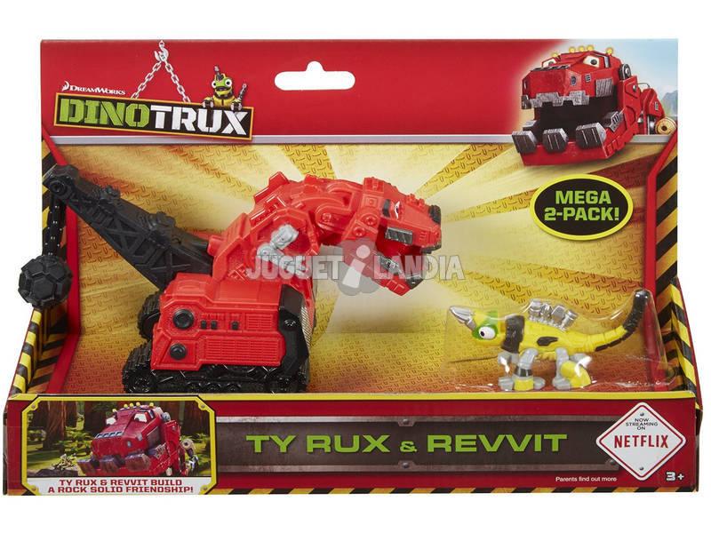 Dinotrux Pack 2 Vehículos Ty Rux y Revvit