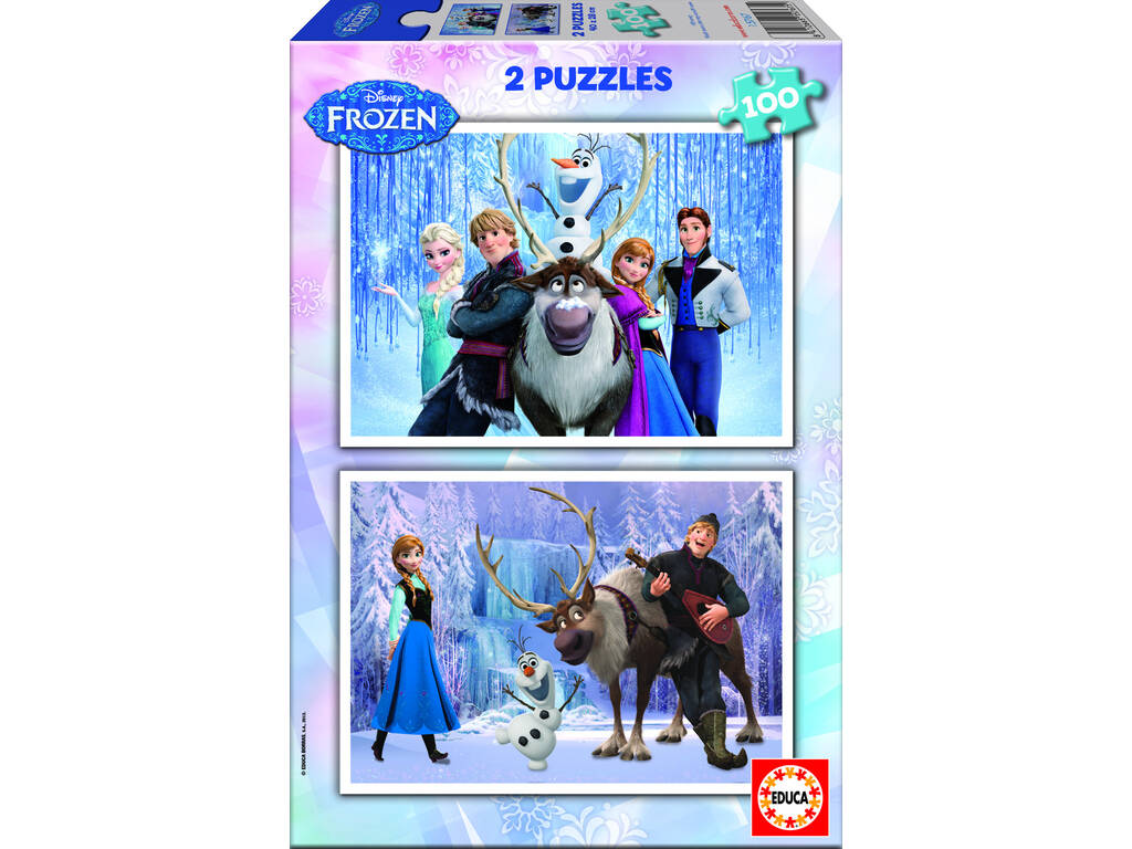 Puzzle 2X100 Disney Reno Frozen