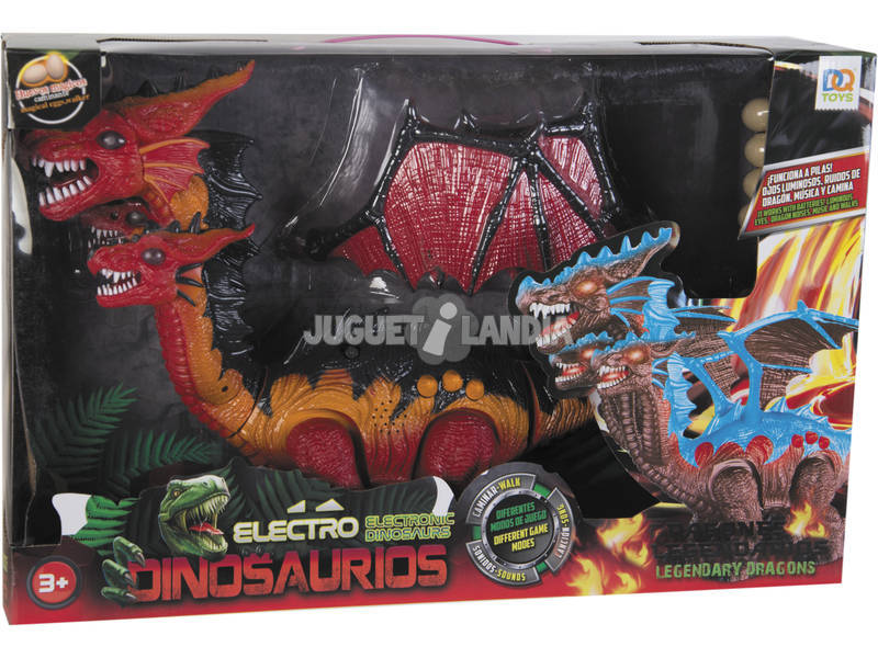 Dinosaurio Alado Andador 3 Cabezas con Huevos