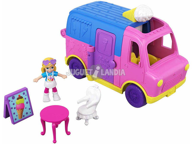 Polly Pocket Pollyville Camión De Helados Mattel GGC40